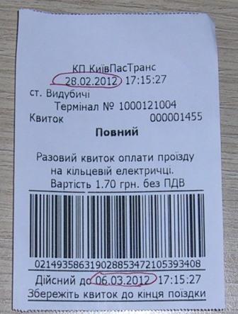Фото 2. 7-денні квитки КМЕ