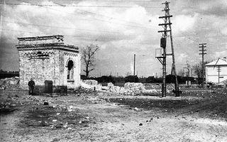 Історія Дарницького вокзалу. Руїни першої будівлі, вигляд з півдня