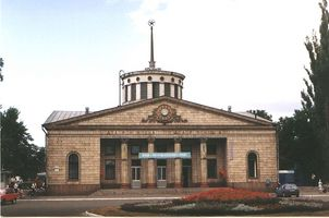 Історія Дарницького вокзалу. Будівля 1953 року, південний фасад