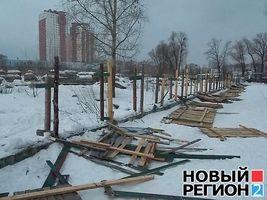 Будівництво на озері Тельбин