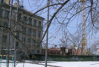 Реконструкція школи №128, вид зі сходу