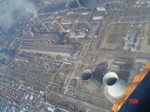 Дарницька ТЕЦ, вигляд з повітряної кулі
