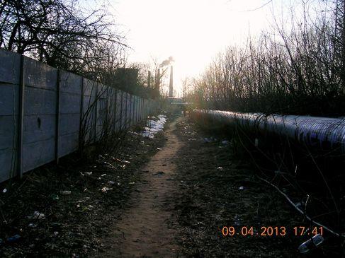 Річка Дарниця у місці побудови нової дороги на ДВРЗ