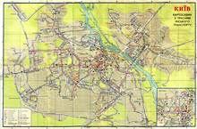 Київ, 1975 рік. Схема руху транспорту