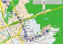 Київ, 2013 рік. Схема руху трамвая №23