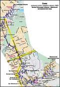 Київ, 2013 рік. Схема руху трамвая №33