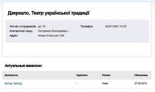"""Театр """"Дзеркало"""" (ДВРЗ) проведе кастинг акторів"""