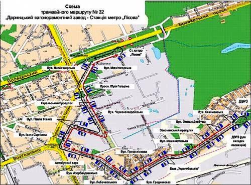 Трамвайний маршрут №32