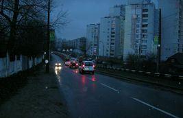 ДТП на мосту ДВРЗ. Трамваї стоять