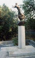 Памятник на могиле Грина (кладбище г.Старый Крым). Скульптор Татьяна Гагарина