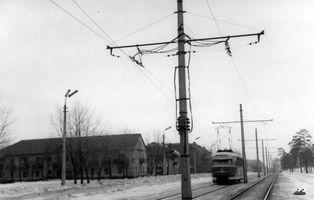 Київ, 1966 рік. Трамвай на вулиці Попудренка