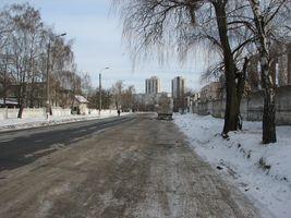 Вулиця Довбуша, погляд назад - у напрямку Алма-Атинської