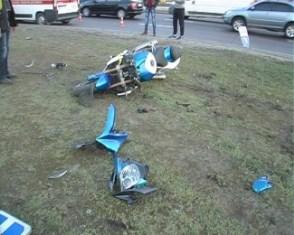 На проспекті Гагаріна розбився мотоцикліст