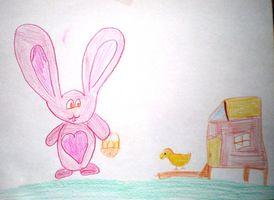 Дитячі великодні малюнки