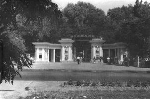 Вхід до Київського зоопарку в 1954 році