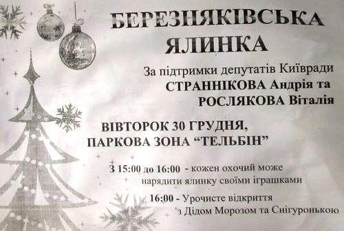 Березняківська ялинка 30 грудня