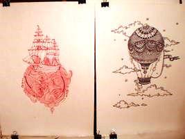 Виставка малюнків у бібліотеці №158