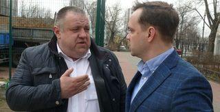 Міщенко та Горбунов на стадіоні ДВРЗ
