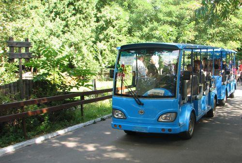 Екскурсійний електропотяг у київському зоопарку