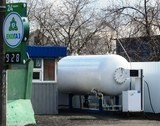 Новая газовая заправка напротив остановки Бакалея на жилом массиве ДВРЗ