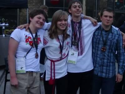 Українська команда на олімпіаді в Данії