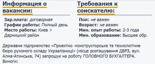ПКТБ (ДВРЗ) запрошує на роботу бухгалтера