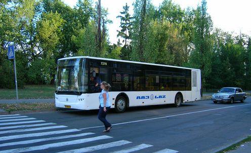Автобус №49 на вулиці Серафимовича (Березняки)