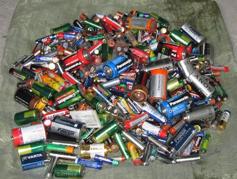 Використані батарейки