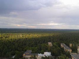 Фото ДВРЗ з даху будинку №109В по Алма-Атинській
