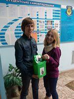 Сайт подарував ірпінським студентам контейнер