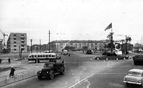 Ленінградська площа. 1958 рік