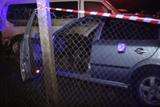 На Азербайджанской в Киеве водитель Skoda влетел в стоянку, скрываясь от полиции