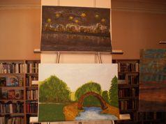 Художня виставка в бібліотеці №158