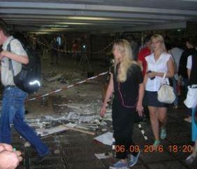 Подземный переход возле станции метро Дружбы Народов в Киеве. МАФ демонтирован
