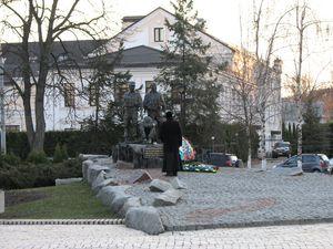 Меморіал воїнам-афганцям на Лаврській вулиці в Києві