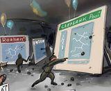 Художник висміяв позавчорашніх погромщиків у Києві