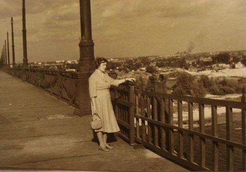 Тимчасові перила на мосту Патона
