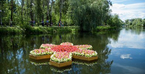У Дніпровському районі Києва стартує фестиваль плаваючих клумб