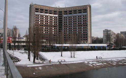 Гостиница Славутич в 2017 году