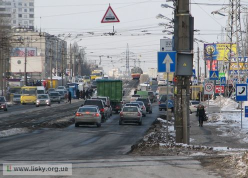 Перетин вулиці Хоткевича з проспектом Гагаріна