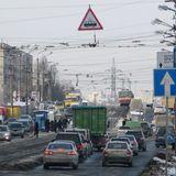 Проспект Гагаріна в Києві реконструюють - з демонтажем трамвайної колії
