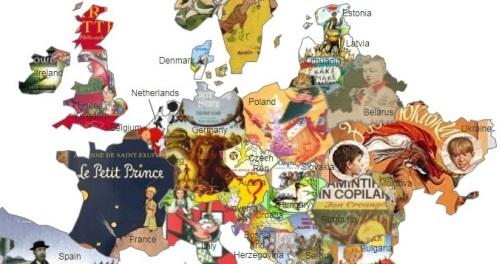 У Європі вчителі склали карту дитячої літератури