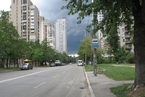 Проспект Павла Тичини в серпні 2017 року