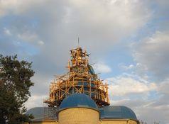 На куполі храму св. вмч. Пантелеймона на ДВРЗ встановлено новий хрест