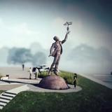 Віталій Кличко показав, як створюють пам`ятник Сікорському
