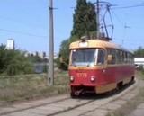 Трамвайне розворотне кільце поблизу Русанівки: відео 2003 року