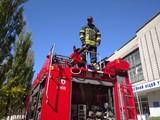 Пожежні навчання у Ліцеї транспорту (місцевість ДВРЗ)