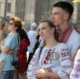 Мегамарш в вышиванках в Одессе