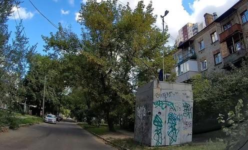 Стаціонарний пост спостереження №4 на вулиці Інженера Бородіна у місцевості ДВРЗ