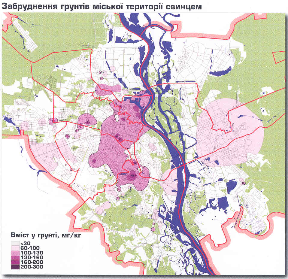Карта забруднення Києва